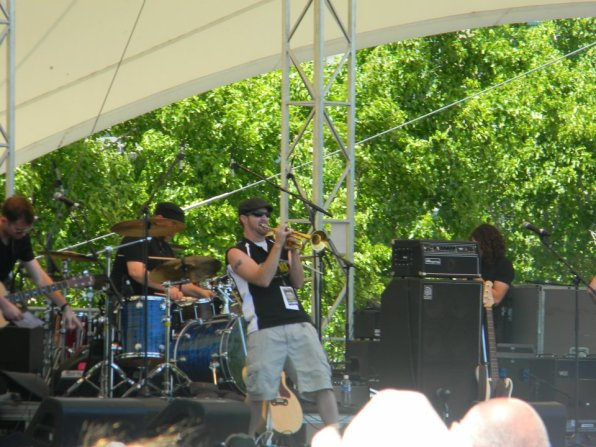 Jungle Jim playing the Country Trumpet at LAC 2012