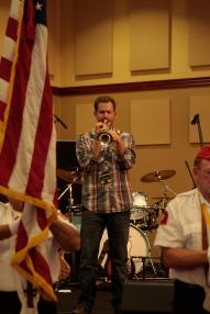 Jungle Jim playing the National Anthem