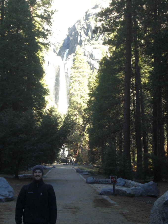 Starting off on the Yosemite Falls Trail