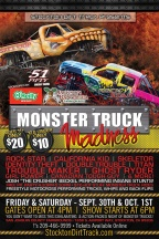 Live in Stockton Friday Morning with Monster Trucks!