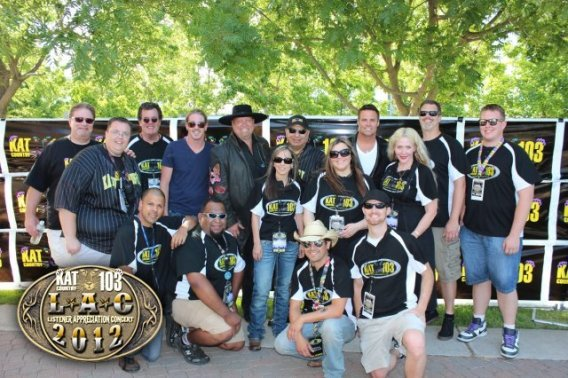 Montgomery Gentry with KAT Staff 2012 LAC